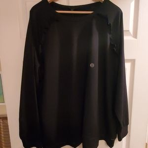 Black Sweater with Ruffles NWT